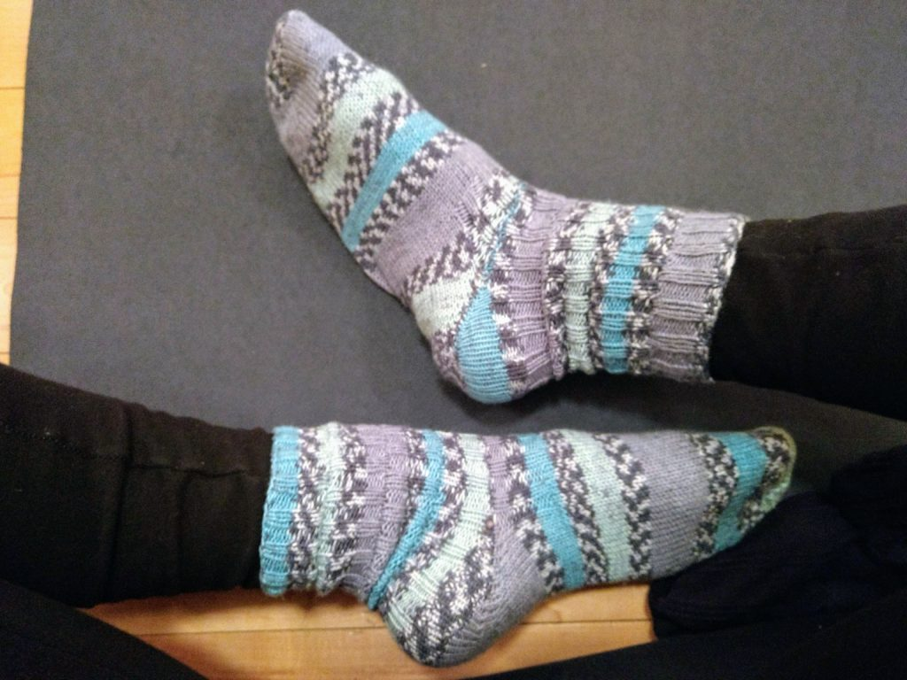 handmade knitted socks
