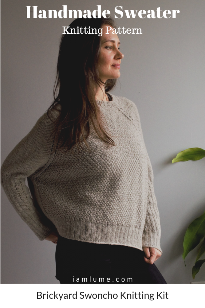 Bluprint's Brickyard Swoncho Knitting Kit. A beautiful handmade sweater-poncho, with an unique design and easy to follow pattern.